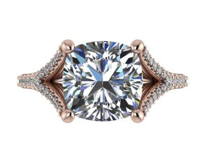 2,40 Karat Engagement Diamant Frauen Solitaire Ringe 18 Karat Solid Rose Real Gold Ehering für Frauen Finger Größe 58 (18,5)