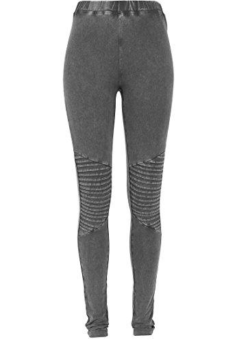 Urban Classics Damen Sport Legging Leggings Denim Jersey grau (Darkgrey) Medium