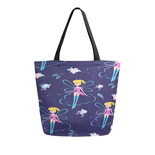 Traum Fantasie Zauberstab Tragbare Große Doppelseitige Casual Leinwand Tragetaschen Handtasche Schulter Wiederverwendbare Einkaufstaschen Reisetasche Für Frauen Männer Lebensmittelgeschäft Reise -