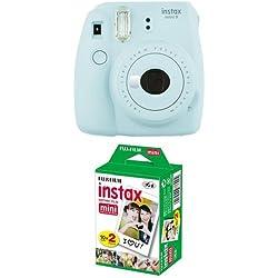 Fujifilm Instax Mini 9 Kamera ice blau mit Film Fujifilm Instax Mini 9 Kamera