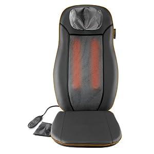 Medisana MCN Shiatsu Massageauflage, Massagesitzauflage mit 3 Massagezonen, Wärmefunktion, Rotlichtfunktion, höhenverstellbare Nackenmassage, für jeden Stuhl geeignet mit Fernbedienung