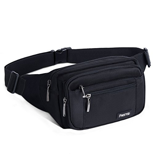 41kLizGywdL. SS500  - FREETOO Large Bum Bag 32.7 to 45.3 Inch Size Waist Travel Pouch Fanny Pack with 6 Zipped Pockets Ideal For Hiking Travel Holidays Festivals