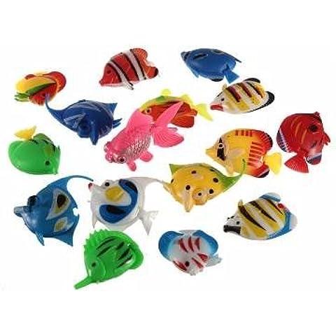 Pakhuis Alta calidad de la falsificación de pescado Fish Tank Decoración plástico Artificial Tropical