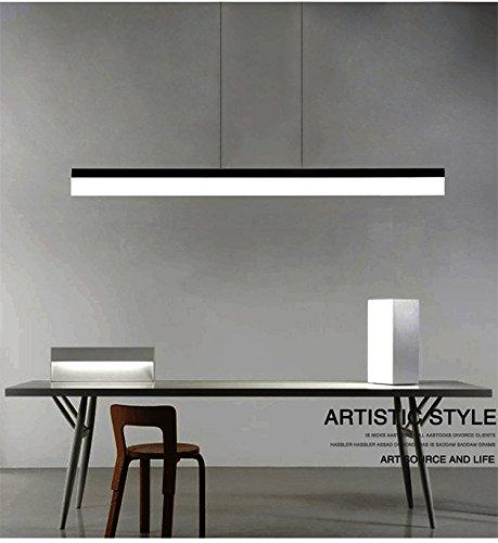Decke Anhänger-beleuchtung (ART LAMPS Moderne Büro LED Acryl Mit Streifen Anhänger Kronleuchter Decke Beleuchtung Leuchte Mit Einstellbarer Hängenden Lampen White Licht Beleuchtung Bereich 30㎡Mehr (schwarz))