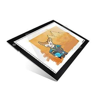 Huion Adjustable Lightness 17.7 Inch (Diagonal) LED Animation Artcraft Tatoo Quilting Tracing Light Box - A4