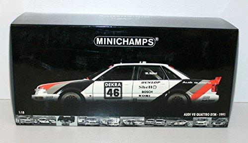 MINICHAMPS 1/18 100911046 AUDI V8 QUATTRO DTM 1991 TEAM SMS WALTER ROHRL #46