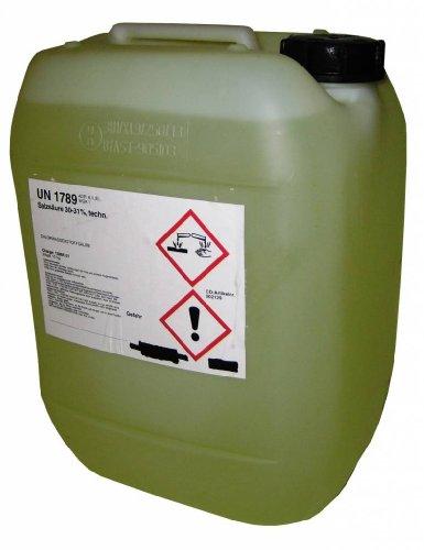 Salzsäure 30-31% technisch 10 Liter = 12 Kg UN1789