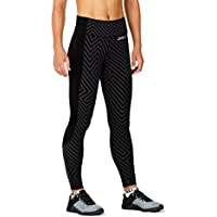 2Xu Women Fitness Compression Tights W. Storage Vestiti Da Corsa Tight Dark Grey - Black