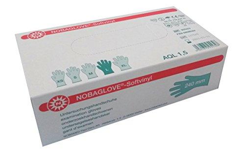 NOBAGLOVE Softvinyl puderfrei Einmalhandschuhe Gr. L 100 St