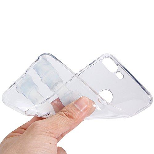 Coque Huawei Honor 9 Lite,Etui Housse Huawei Honor 9 Lite,Surakey Impression de Motif Transparente Souple Silicone Housse Etui Coque de Protection en TPU Bumper Case pour Huawei Honor 9 Lite, Fuck You