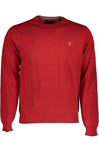 GANT Herren Pullover Cotton Wool Crew Rot