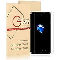 Vetro Temperato per Apple iPhone 7 - Pellicola Protettiva Trasparente Protezione Schermo Premium Ultra Resistente Anti Riflesso Compatibile 3D Touch (0,25mm HD Alta Trasparenza)