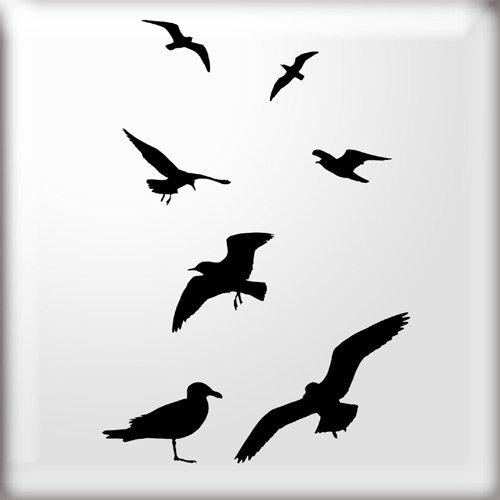 the-stencil-studio-ltd-flock-of-birds-silhouette-stencil-reusable-stencil-s-a4-size-10308s
