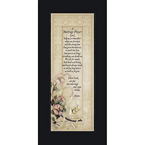 ebet, Christian Ehe Geschenk, Rahmen Hochzeit Geschenk, 6x 127757, Polyurethan, Schwarz, 6x12 ()