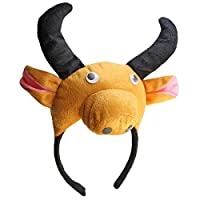 BestOfferBuy 3D Kuh Ochse Kopfband Tier Bauernhof Erwachsene Kinder Kostüm Maske Maskenball