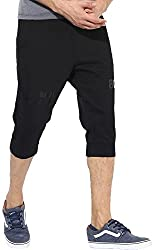 1lycargos Mens Cotton 3/4 shorts with side pockets with Pipping