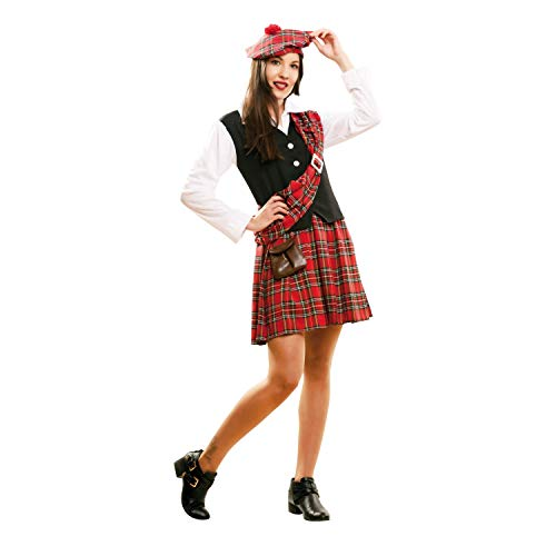 Traditional Style Scottish Costume for Women with handbag and beret
