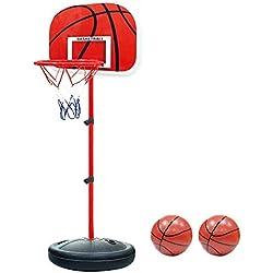 YunNasi Baloncesto Interior Regulable en altura Estable y con el balón & bomba aptos para niños y jóvenes