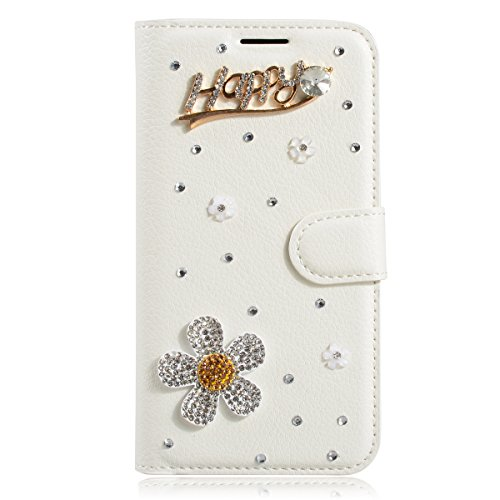 iPhone 7 Hülle, Apple iPhone 7 Hülle, Gift_Source [ Klavier ] Stand Hülle Etui with Karte Halterung Leder Wallet Klapphülle Flip Book Case TPU Cover Bumper Tasche Ultra Slim für Apple iPhone 7 E1-Glücklich