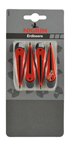 Nigrin 74570Aire Ambientador Sticks para Rejilla de ventilación, Fresa, 4Unidades