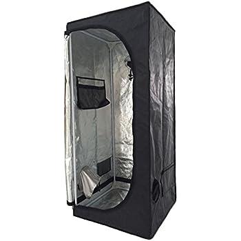 New Indoor Grow Light Box Tent Aluminum lined Bud Dark Room for Hydroponic Fan 7 Sizes (60x60x140CM)  sc 1 st  Amazon UK & Finether 60x60x140CM Hydroponic Grow Tent Hydro Box Lightproof ...