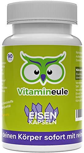 Eisen Kapseln - Eisenbisgylcinat - Qualität aus Deutschland - ohne Zusatzstoffe - vegane, kleine Kapseln - 100% Zufriedenheitsgarantie - deutsche Laboranalytik - hochwertige Eisen - Vitamineule®