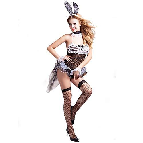 GUANGHEYUAN-J Sexy Kostüme für Frauen Bunny Girl Sexy Body Suit Sexy Unterwäsche Dessous Perspektive Versuchung Frauen Unterwäsche Dessous Nachtclub Babydoll Sexy Extreme Freie Größe Flirt Kostüm
