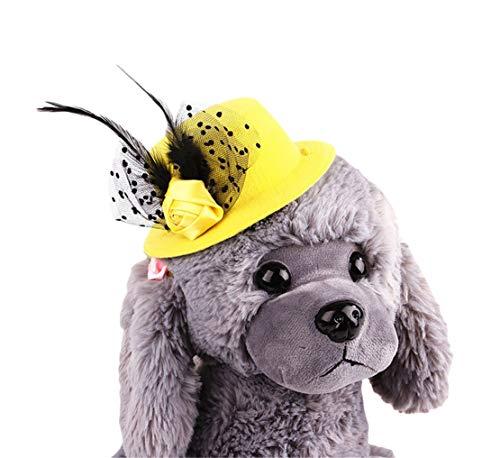 Tianba Haustier Europäischer Promi Hunde Hut Gentleman Katzen Kopfschmuck Hund Hat Tier Kopf Schmuck Weihnachts Dekorativer Hut Katzen Hunde Zubehörs