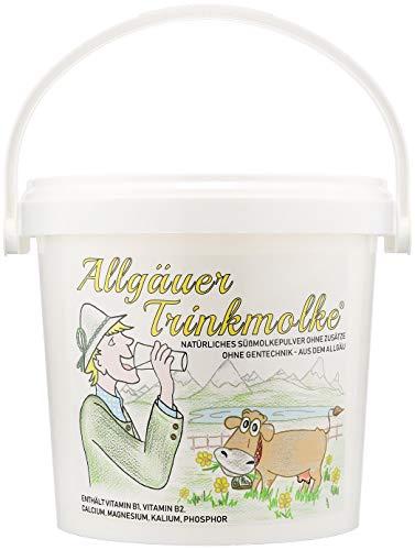 Allgäuer Trinkmolke - Süssmolke Molkepulver - Süßmolkepulver ohne Zusätze - Deutsches Naturprodukt aus bester heimischer Milch - Im praktischen Vorrats-Eimer (1500 g)