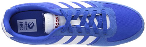 Adidas Herren City Racer trainers-navy/grau/lime/weiß, Größe 8 Blue/White/Grey/Red