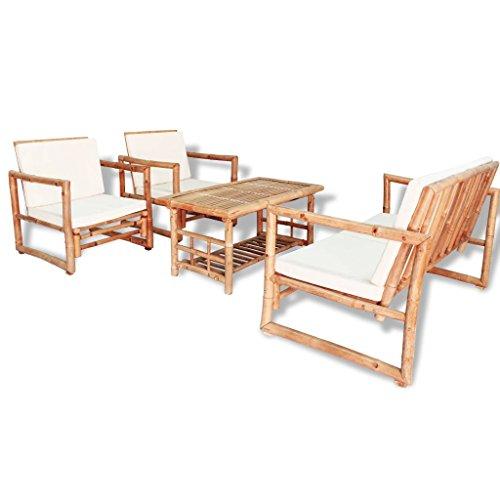Festnight Gartenmöbel Set Gartengarnitur Sitzgruppe Lounge Garnitur 12-TLG. Bambus