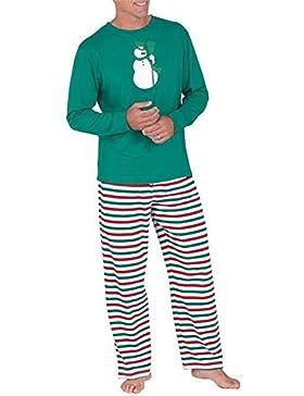 Hzjundasi Familia de Coincidencia de Patrones de Navidad Pijamas Set - Hombres Mujer Chico Niña Niños Bebé Xmas...