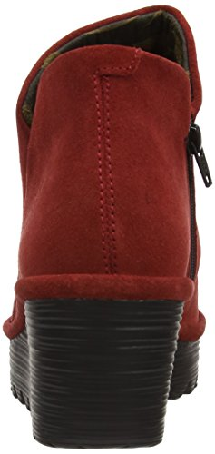 Fly London Yip Oil Suede, Damen Stiefel Rot (Red)