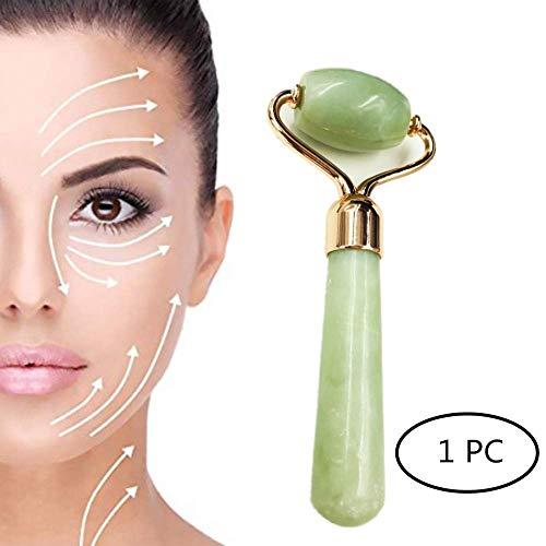Jade Feuchtigkeitscreme (Gesichtsrolle Hautmassagegerät Halshaut Tragbare Linderung Von Schmerzen Wangen Schlanker Körpermassager Hyperpigmentierung Roller)