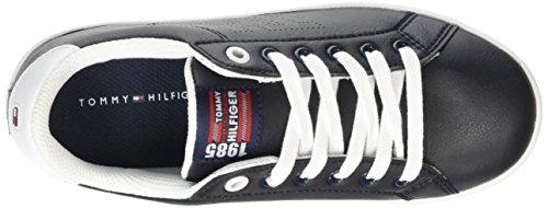 Tommy Hilfiger B3285asket 1s Jungen Low-Top Blau (MIDNIGHT/WHITE 403)