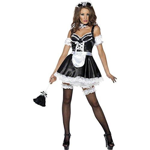 Sexy Zimmermädchen Kostüm - NET TOYS Sexy Zimmermädchen Kostüm Dienstmädchen S 36/38 Stubenmädchen Outfit Zimmer Mädchen Hausmädchen Damenkostüm