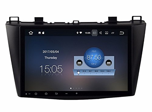 RoverOne Android 7.1 Système Pour Mazda 3 2010 2011 2012 Voiture GPS Navigation avec Autoradio Stéréo Radio Bluetooth HDMI MirrorLink Quad Core Système multimédia