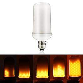 bombilla LED Efecto Llama Fuego Flame Light bulb Fire Effect para Navidad, Halloween y Party-Up Version -