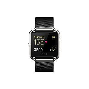 Fitbit Blaze - Reloj Inteligente para Actividad Física, Unisex, Color Negro y Plata, Talla S