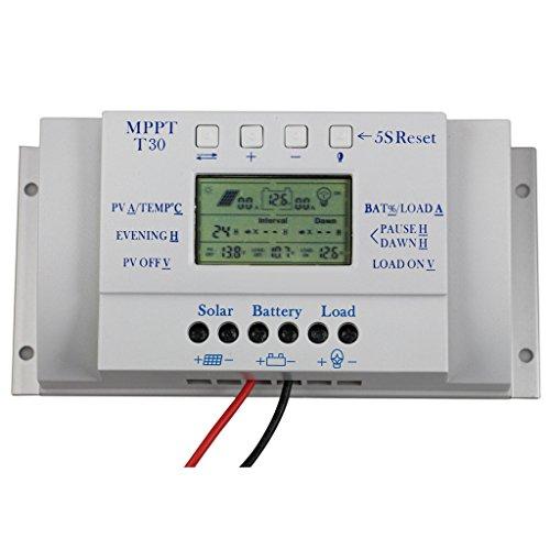Solar-Panel-Regler Lcd 30a 12v MPPT Laderegler Dreimalige & USB