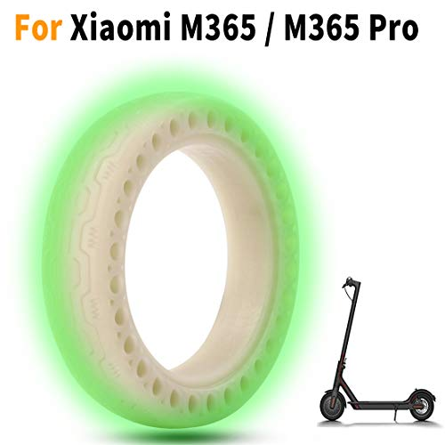 Pneu plein fluorescent 8,5 X2 compatible Xiaomi Mi M365