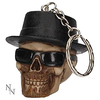 Weird Or Wonderful Keyring Badass Skull by Alator - Nemesis Now Gothic Walter White Breaking Bad Keychain Key Ring Bag Tag