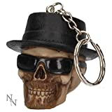 Weird Or Wonderful Keyring Badass Skull by Alator - Nemesis Now Gothic Walter White Breaking Bad Keychain Key Ring Bag Tag