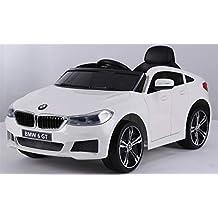 ATAA BMW 6 GT Licenciado 12v - Blanco - Coche eléctrico para niños batería 12v con