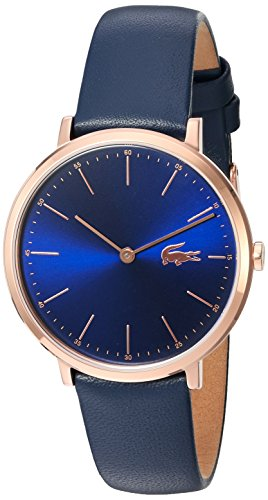 Lacoste Women's Quartz Gold and Leather Automatic Watch, Color:Blue (Model: 2000950)