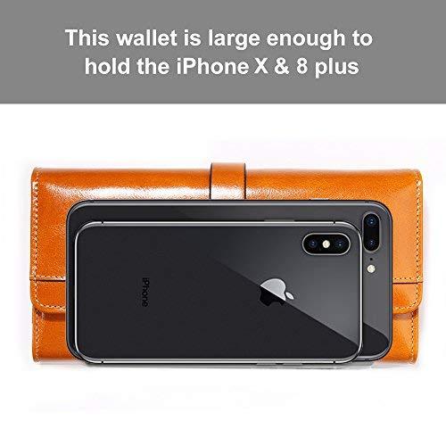 Damen Geldbörse, Gewachstes Echtleder, RFID Schutz - 3