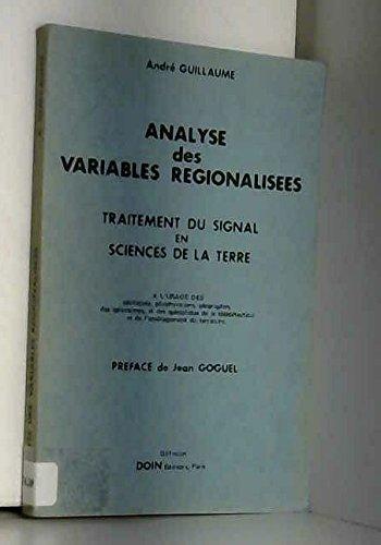 Analyse des variables régionalisées