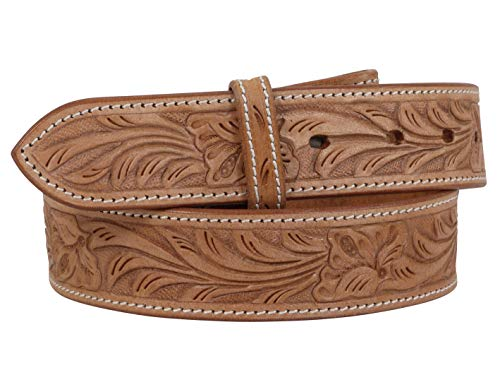 e8eae496691 Thor Equine Western Belt Floral Tooled Cowboy Cowgirl without Buckle  Nature, Nature, 44