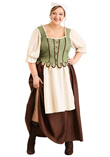 Kostüm Bar Wench - Medieval Pub Wench Fancy Dress Costume Plus Size 3X