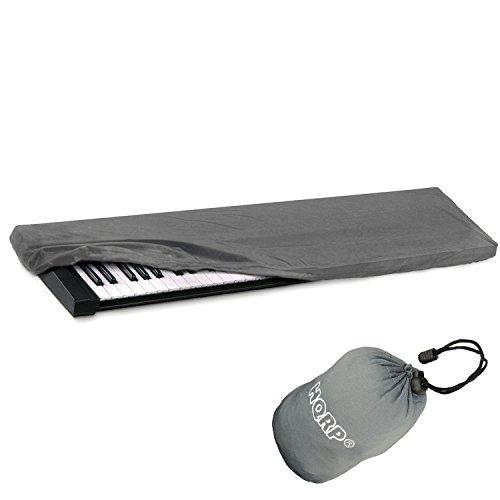 hqrp-elastic-dust-cover-case-w-bag-gray-for-yamaha-motif-xf7-s70-xs-tyros-5-ypg-235-dgx-300-ypg-225-